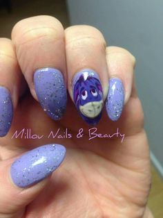 Eeyore xx Manicure Ideas, Nail Ideas, Disney Nails, Eeyore, Cute Disney, Nail Inspo, Toe Nails, Cute Fashion, Pretty Nails