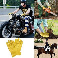 Evridwear Premium Grade Deerskin Full Grain Unlined Leather Gloves, Soft Buckskin Gloves with Open Cuff for Working Driving Gardening, or Industrial 1 Pair, 4 Sizes (XL, Yellow Deerskin) Deerskin Gloves, Leather Gloves, Deer Skin, Grains, Industrial, Outdoors, Gardening, Amazon, Yellow
