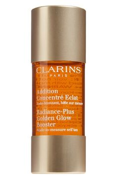 Clarins Radiance-Plus Golden Glow Booster | 3 drops to your daily moisturizer for a subtle glow.