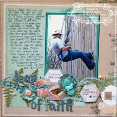 Scrapbook layout with MME papers