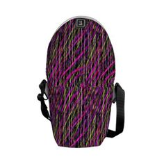 Striped Grunge Messenger Bag by #dflcprints and #zazzle