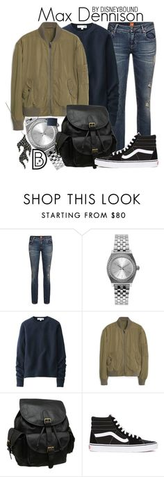 """Max Dennison"" by leslieakay ❤ liked on Polyvore featuring moda, Nixon, Uniqlo, MANGO, AmeriLeather, Vans, Halloween, disney, disneybound y disneycharacter"