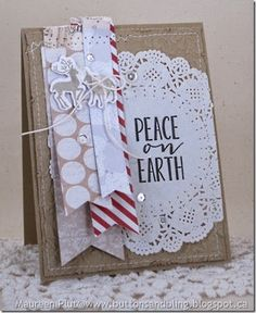 Maureen Plut: Buttons & Bling – Peace On Earth ~ Festive Friday - 5/28/14