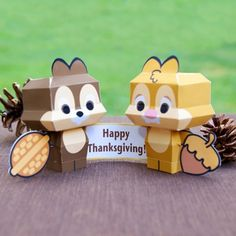 Chip & Dale Cutie #Papercrafts  #Thanksgiving #Fall