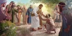 Jesus toca um leproso antes de curá-lo