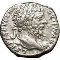 SEPTIMIUS SEVERUS 197AD Silver Ancient Roman Coin Victory Cult Angel i53167