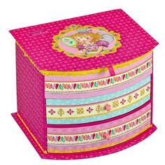 Prinses Lillifee - Sieradenkastje met spiegel - Roze Feest
