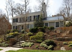 Great stone walls for hillside   View from the Front - traditional - exterior - dc metro - AHMANN LLC