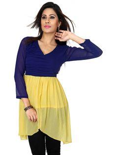 #Stylish Blue & #Yellow Tunic