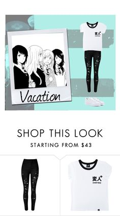 """""""Vacation!"""" by stop-being-kawaii ❤ liked on Polyvore featuring Illustrated People and adidas"""
