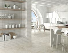ARCANA Tiles | Tortona Bone 44,3x89,3 cm. / Ventura Blanco 33x100 cm. | Interior Design | Kitchen | Inspiration | architecture