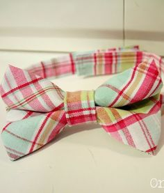 One Dog Woof: How to make a bow tie for a little boy
