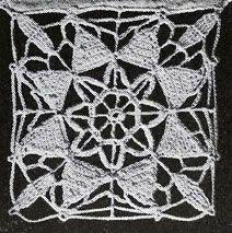 Star of Venice Motif Pattern chart