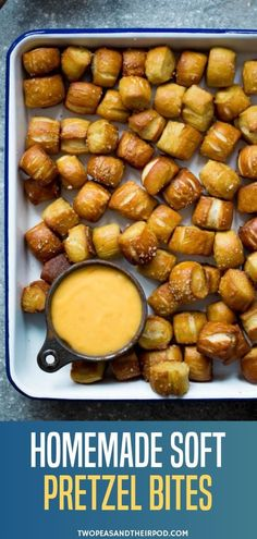 Mar 2020 - Homemade Soft Pretzel Bites are the perfect party or game day appetizers! These little pretzel bites are fun to make, soft, chewy, salty, and so good dipped in cheese sauce! Save this Super Bowl party idea for later! Homemade Soft Pretzels, Pretzels Recipe, Tapas, Snacks Für Party, Appetizers For Party, Super Bowl Appetizers, Parties Food, Super Bowl Foods, Super Bowl Recipes