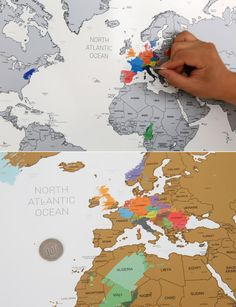 Scratch Off World Map Sizes - Us scratch off map
