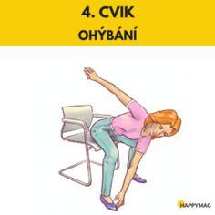 6 efektivních cviků jak zhubnout boky, zatímco sedíte na židli Bart Simpson, Workout, Health, Sports, Hacks, Body Fitness, Police, Training, Fresh