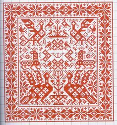 "ru / Mongia - Альбом ""Motif scandinaves traditionnel"" Pages and Pages of symbols for designing samplers Cross Stitch Bird, Cross Stitch Samplers, Cross Stitch Designs, Cross Stitching, Cross Stitch Patterns, Scandinavian Embroidery, Scandinavian Pattern, Scandinavian Design, Folk Embroidery"
