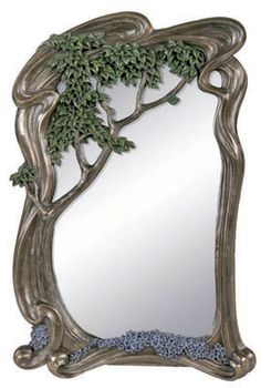 Art nouveau tree mirror/frame