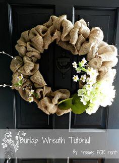 Spring Burlap Wreath. Making these for Easter:)