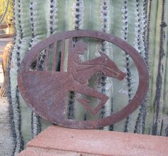 Horse Racing Jockey Out The Gate Metal Template by AlvetaVintageItems on Etsy