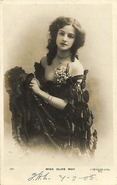Olive May - Edwardian actress, later Lady Victor Paget & then Countess of Drogheda Look Vintage, Vintage Girls, Vintage Beauty, Vintage Fashion, Vintage Pictures, Old Pictures, Vintage Images, Old Photos, Foto Transfer