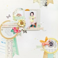 #papercraft #scrapbook #layout.  What A Gal by jc.chris at @studio_calico