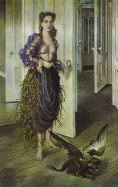 Dorothea Tanning, Birthday, 1942, oil on canvas, 102.2 x 64.8 cm, Philadelphia Museum of Art, Philadelphia