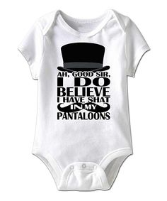 White 'Good Sir' Bodysuit - Infant