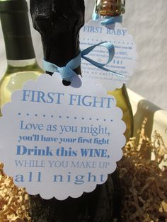 Personalized Wine Poem Tags bridal shower/ by ourlittleprints. , via Etsy.