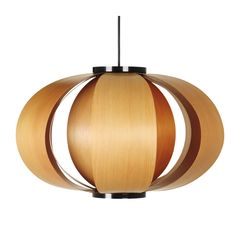 Attractive Mid-Century Lamp in Stunning Models : Exquisite Design Pendant Lamp Use Wooden Lampshade Formed A Full Round Make Interesting Int. Wooden Lanterns, Wooden Plates, Mid-century Modern, Modern Design, Wood Design, Modern Decor, Wooden Lampshade, Lampshades, Pinterest Home
