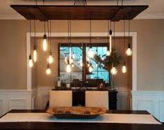 Image result for edison chandelier bar