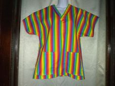 Made of 100% cotton.  In sizes S-XXL. $30.     www.etsy.com/shop/JudisScrubs Custom Scrubs, Medical Scrubs, V Neck, Classic, Cotton, Etsy, Shopping, Tops, Women