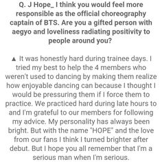 J-Hope ❤ #BTS #방탄소년단 Interview Questions For STAR1 Magazine Vol.53 ~ August 2016 issue.