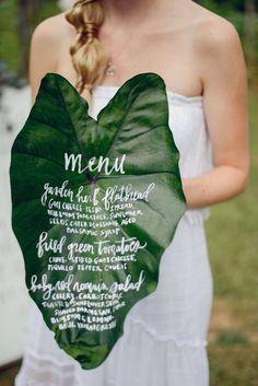 event menu for A Midsummer Night's Soiree at Milton's Cuisine & Cocktails in Milton, GA  handlettering: CBRANNEN DESIGNS design/styling: BURKE | DESIGN + PLANNING photo: ALEA MOORE