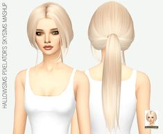 Miss Paraply: Hallowsims Pixelator`s skysims hair retextured  - Sims 4 Hairs - http://sims4hairs.com/miss-paraply-hallowsims-pixelators-skysims-hair-retextured/