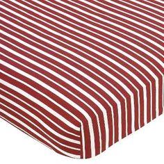 Sweet Jojo Designs Vintage Aviator Collection Stripe Fitted Crib Sheet