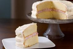 Fluffy Lemon Cake with Raspberry Cream Cheese Filling and Buttercream Frosting