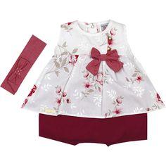 Banho de Sol Feminino de Bebê Floral Vinho - Sonho Mágico :: 764 Kids | Roupa bebê e infantil