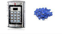 50pcs RFID ID tags Access Control Weatherproof Metal Anti Vandal Metal Keys Reader/ Keypad Standalone 2000 Users with Doorbell #Affiliate