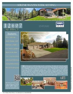 Real Estate for Sale at $549,900! Four Bedroom, four and a half Bath, 47;38 square foot custom two story serene Woodcreek or Salmon Creek Daylight Ranch on .77 acre lot located at 12607 NE 5th Court, Vancouver, Washington 98685 in Clark County area 43 which is the North Felida area in Vancouver. The RMLS number is 15611095. It has two propane fireplaces and a territorial view which includes trees. It was built in 1995 and the local high school is Skyview High. The annual taxes due are…