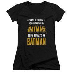 Batman/Be Batman Junior V-Neck in