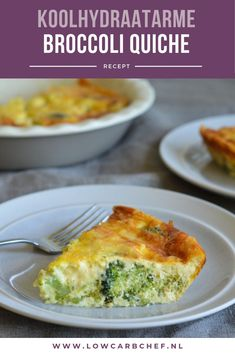Low carbohydrate broccoli quiche - Today I share with you a delicious recipe for a low-carb broccoli quiche. This quiche is delicious - No Carb Recipes, Clean Recipes, Quiche Au Brocoli, Low Carb Quiche, Healthy Snacks, Healthy Recipes, Good Food, Yummy Food, Flan
