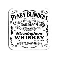 Peaky Blinders rum is fun whisky for business quote poster print A4 gift