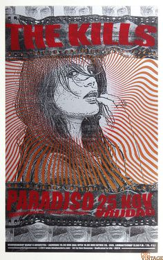 The Kills Poster 2011 Nov 25 Paradiso Amsterdam Ron Donovan