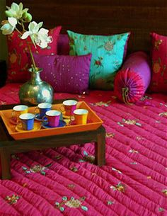 I am such the sucker for pink in Indian design.