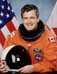 A navy man by training, Marc Garneau joined Canada's fledgling space program in 1983, and in 1984 became the first Canadian in outer space when he served as crew on U.S. Shuttle Mission 41-G. After venturing to space a few more times, he would go on to serve as head of the Canadian Space Agency from 2001 to 2005.