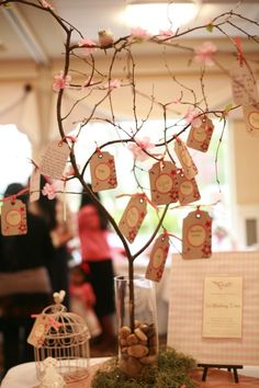 Baby shower cherry blossom wishing tree. Cute idea!