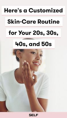 Here's a customized skin-care routine for your 20s, 30s, 40s, and 50s. Find out which products dermatologists recommend at every age. #skincaretips #SkinCare50Plus #PimplesOnForehead Skin Care Regimen, Skin Care Tips, Skin Tips, Skin Secrets, Beauty Care, Beauty Skin, Beauty Tips, Beauty Hacks, Face Beauty