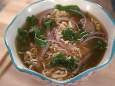 """Ramen Pho (All in One) - """"The Pioneer Woman"""", Ree Drummond on the Food Network. Ramen Noodle Recipes, Pasta Salad Recipes, Soup Recipes, Cooking Recipes, Dishes Recipes, Ramen Noodles, Noodle Soups, Recipe Pasta, Beef Dishes"""