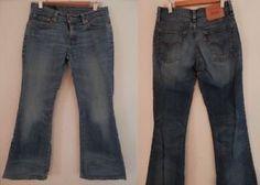 Genuine LEVIS 529 Womans Basic Denim Straight Jeans Size W 28 L 30 Blue Cotton